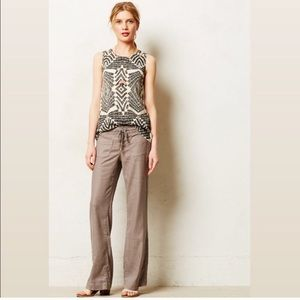 New✨Anthro Level 99 Wide Leg Linen Lounge Pant 27P